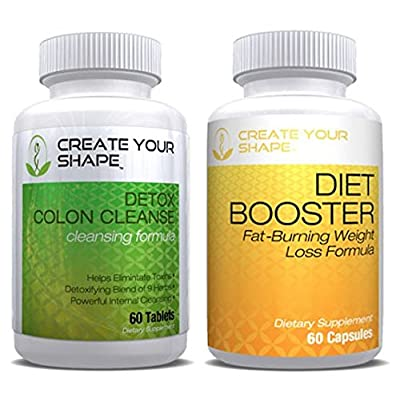 Diet Booster Diet Pills + Detox Cleanse Weight Loss - 2Pk - Best Seller - Rapid Weight Loss Supplement - Appetite Suppressant - Fat Burner - Flush Toxins- Increased Energy Safe & All Natural
