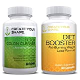 Diet Booster Diet Pills + Detox Cleanse Weight Loss - 2Pk - Best Seller - Rapid Weight Loss Supplement - Appetite Suppressant - Thermogenic Fat Burner - Extra Strength 14 Day Cleanse to Support Detox