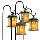 Flicker Candle Solar Lights - Pair