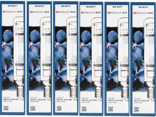 6-PACK HORTILUX-BLUE 400w Daylight Metal Halide Grow Lamp Bulb ()