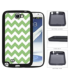 Chevron Design Pattern In Mint Green Rubber Silicone TPU Cell Phone Case Samsung Galaxy Note 2 II N7100Kimberly Kurzendoerfer