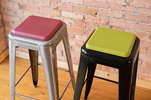 Square Seat Cushion For Metal Bar Stools Or Kitchen Chairs