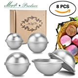 Bath Bomb Molds Shapes DIY Metal Bath Bomb Mold, Magift 8 Pieces 4 Size 4 Set Bath Bomb Kit for Relax and Save Your Money, Mix and Make Your Own Unique Recipes, Making Lush Perfect Bath Bombs for Gift