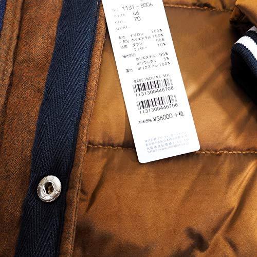 40493 秋冬 ダウンコート ハーフコート フード取り外し可 ブロンズ(茶) サイズ 48(L) CAPRI カプリ 紳士服 メンズ 男性用