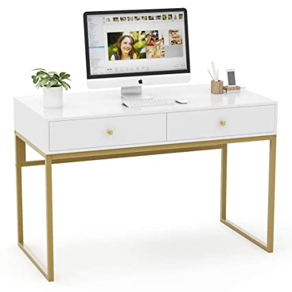 Miraculous Amazon Com Tribesigns Modern Computer Desk With Drawers 47 Interior Design Ideas Tzicisoteloinfo