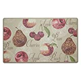 Chef Gear Elegant Fruit Anti-Fatigue Comfort Memory Foam Kitchen Chef Mat, 20 x 32''