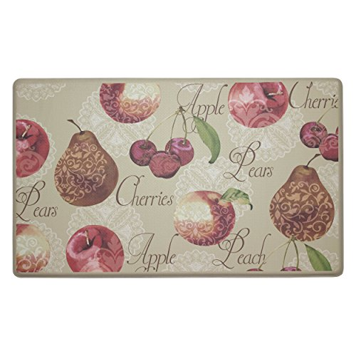 Chef Gear Elegant Fruit Anti-Fatigue Comfort Memory Foam Kitchen Chef Mat, 20 x 32'' by Chef Gear