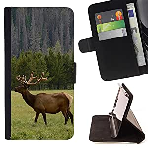 - Deer - - Flip Wallet Leather Magnetic Closure Cover Skin Case FOR Samsung Galaxy S3 MINI I8190 Justin City