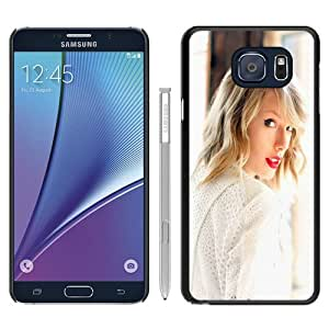 High Quality Samsung Galaxy Note 5 Edge Skin Case ,Taylor Swift In White 640x1136 Black Samsung Galaxy Note 5 Edge Screen Cover Case Popular And Unique Custom Designed Phone Case