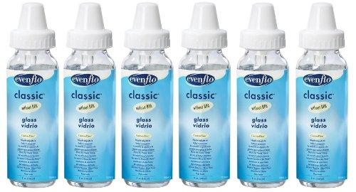 Evenflo Classic Light - Evenflo 3 Pack Classic Glass Bottle, 8-Ounce - 2 Packs of 3 Bottles