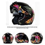 Flip Up Helmets,Full Face Helmet Motorcycle Helmet DOT Certification Men and Women Double