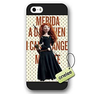Disney Brave Princess Merida Frosted Phone Case & Cover for iPhone 5/5s - Black