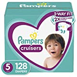 Diapers Size 5, 128 Count - Pampers Cruisers Disposable Baby Diapers, ONE MONTH SUPPLY: more info