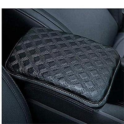 Auto Center Console Pad, Console Cover Armrest Pads, PU Leather Universal Car Center Console Box Arm Rest Pads Cushion Protector(Black): Automotive