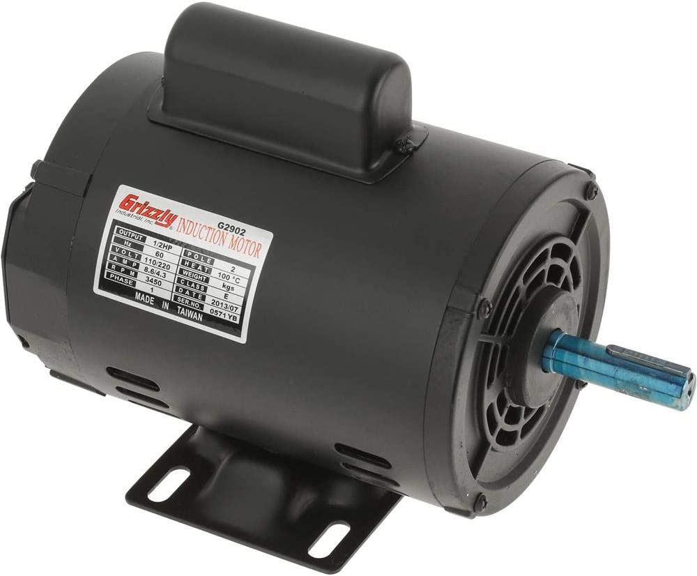 B0000DD1EM Grizzly Industrial G2902 - Motor 1/2 HP Single-Phase 3450 RPM Open 110V/220V 51gOSbNejUL.SL1000_