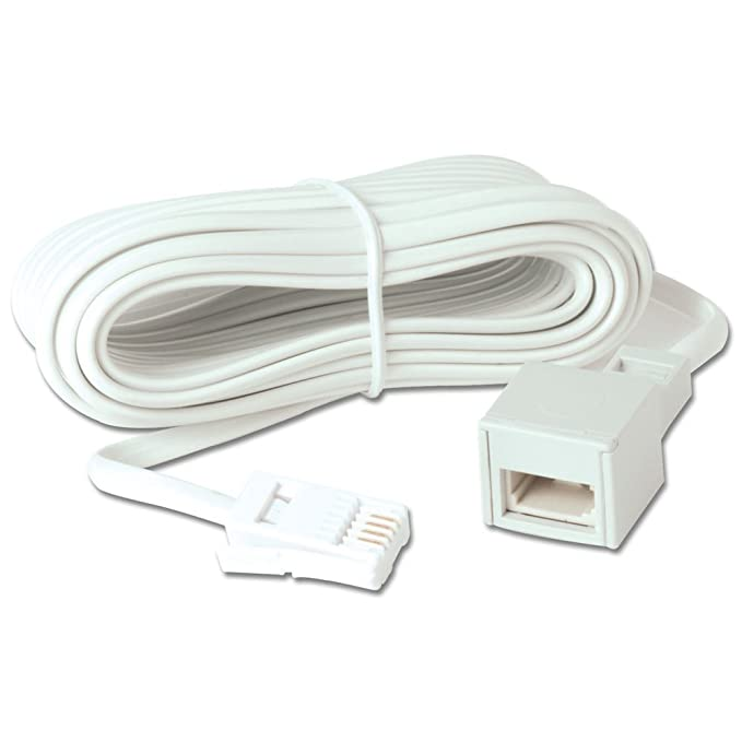 Wired-up BT 10m Telephone Extension Cable Suitable for: Amazon.co.uk ...
