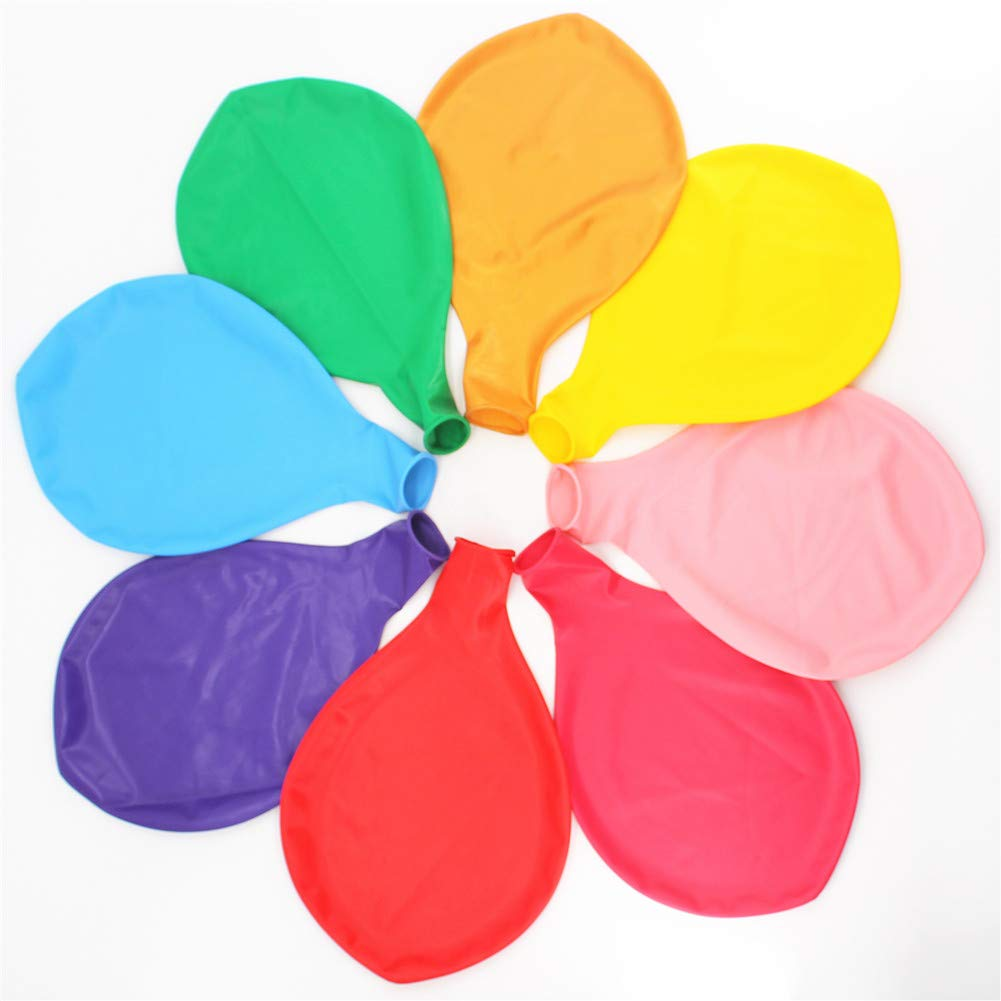 36 Inch Giant Latex Jumbo Balloons, 8 Pack 36'' Assorted Colors large Balloons for Photo Shoot/Birthday/Wedding Party/Festival/Event/Carnival Decorations, Mix Color (Premium Helium Quality) …