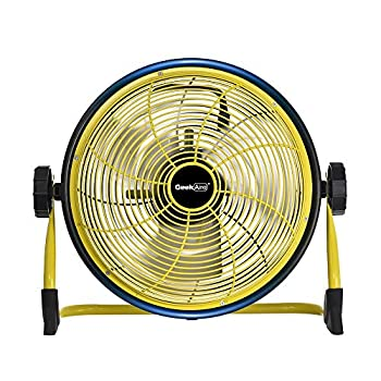 Image of Home and Kitchen Geek Aire Fan, Battery Operated Floor Fan, 15600mAh Rechargeable Powered High Velocity Portable Fan, Air Circulator Fan with Metal Blade, up to 24h Run Time for Camping Traval Hurricane, 12 Inch