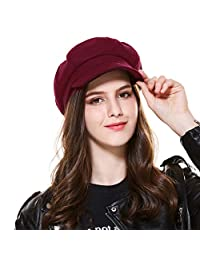 Kajeer Vintage Wool Berets Newsboy Cap for Women