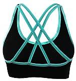 AKAMC Women's Removable Padded Sports Bras Medium