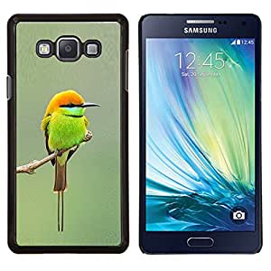 Dragon Case - FOR Samsung Galaxy A7 - green orange tiny cute bird blurry branch - Caja protectora de pl??stico duro de la cubierta Dise?¡Ào Slim Fit
