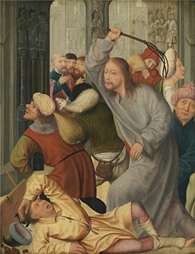 high quality polyster Canvas ,the Imitations Art DecorativePrints on Canvas of oil painting 'Quinten Massijs,Christ Driving the Money Changers from the Temple,1466-1529', 8x10 inch / 20x26 cm is best for - Macaw Sweet Vitamin Harvest
