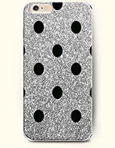 Black Dots In Grey Background - Polka Dot Series - Phone Cover for Apple iPhone 6 Plus ( 5.5 inches ) - OOFIT Authentic iPhone Case