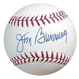 JIM BUNNING AUTOGRAPHED OFFICIAL MLB BASEBALL PHILADELPHIA PHILLIES TRISTAR STOCK #25941