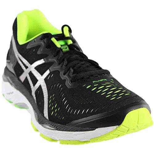 ASICS Men's Gel-Kayano 23 Running Shoe, Black/Silver/Safety Yellow, 11 M US