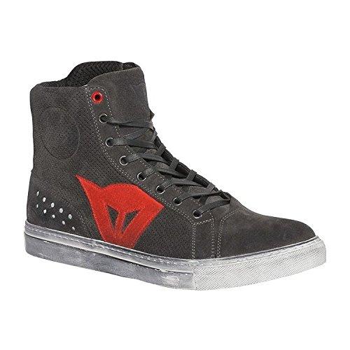Dainese Street Biker Air Shoes Carbon-Dark/Red Euro 43 US 10