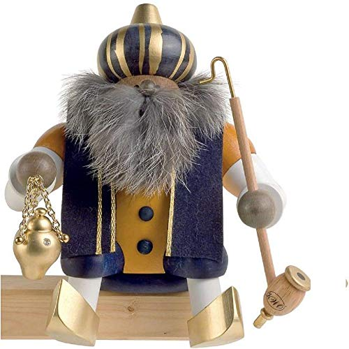 KWO Holy King Melchior Smoking Man Figurine, Multi-Colour, 18 cm, Pack of - King Melchior Figurine