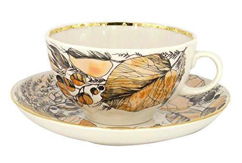 Lomonosov Porcelain Tea Set Cup and Saucer My Garden 2 pc