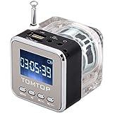 Mini Digital Portable Music MP3/4 Player TF USB Disk Speaker FM Radio Black