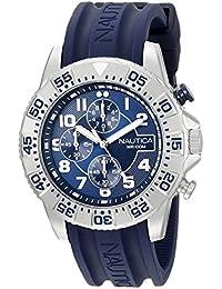 63f020f4381 Men s NAD16512G NSR 104 Analog Display Analog Quartz Blue Watch. Nautica