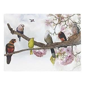 """ailovyo pájaros tropicales de goma antideslizante entrada camino al aire libre decoración de interior alfombra Doormats (23.6x15.7"""")"""
