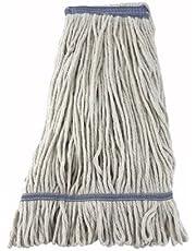 Winco Yarn Mop Head, 24-Ounce, 4 Ply Loop End, White, Medium - MOP-24W