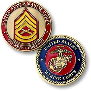 U.S. Marine Corps Gunnery Sergeant Challenge Coin from Armed Forces Depot