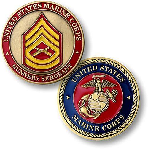 U.S. Marine Corps Gunnery Sergeant Challenge Coin ()