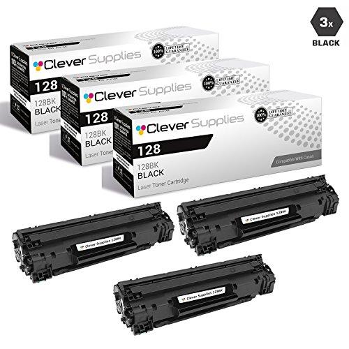 (CS Compatible Toner Cartridge Replacement for Canon 128 3500B001AA Black FAX L100 FaxPhone L100 L190 i-SENSYS MF4410 MF4430 MF4450 MF4550D MF4570DN MF4580DN imageCLASS 4890dw 3 Set)