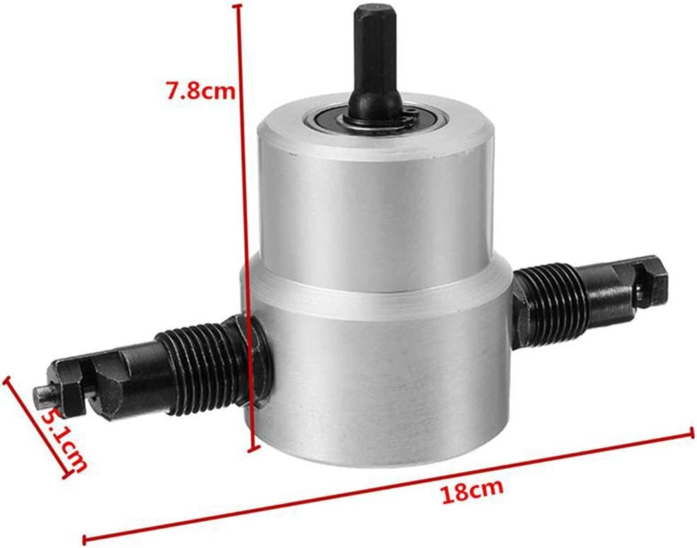 Metal Cutting Tool w//Wrench and Extra Nibbler Part 450g//1lb Double Head Sheet Metal Nibbler Cutter