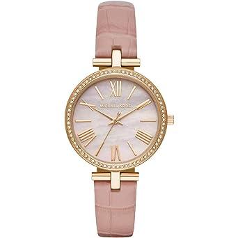 59921f7808743 Michael Kors Damen Analog Quarz Uhr mit Leder Armband MK2790  Amazon ...
