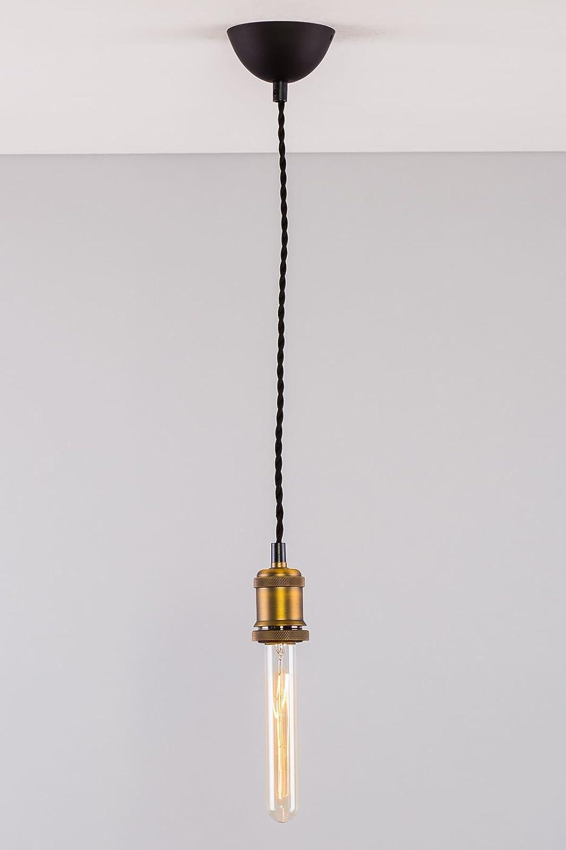 Industrial Edison Brass Bulb Holder Black Fabric Cable Vintage ... for Bulb Holder Design  568zmd