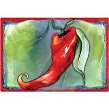 """Magic Slice Non-Slip Flexible Cutting Board, Party Size 7.5"""" x 11"""", Chili by Amy Hautman"""