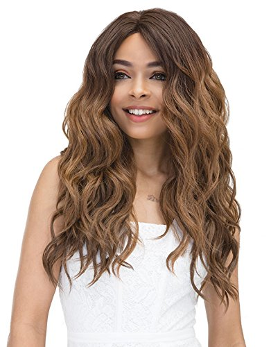 Janet Wig - JANET COLLECTION SUPER FLOW DEEP PART LACE FRONT WIG - MOON (OET1B30)