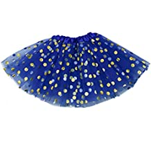 """The Hair Bow Company Girl & Teen Gold Polka Dot Tulle Tutu Skirt 13"""" for 8-16 years - Many Colors"""