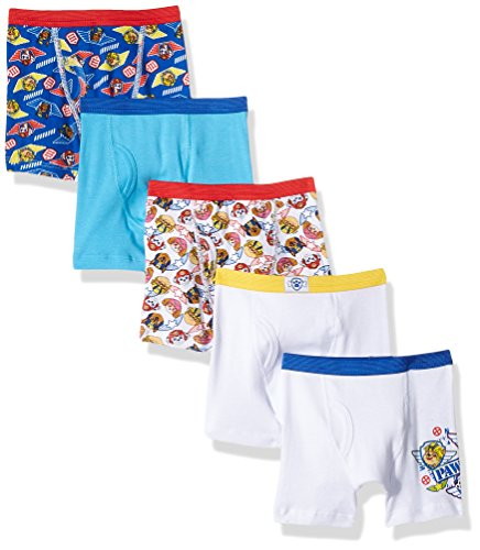 Nickelodeon Toddler Boys' Paw Patrol 5 Pack Boxer Brief, Assorted Prints, 4T (Toddler Boy Briefs 5t)