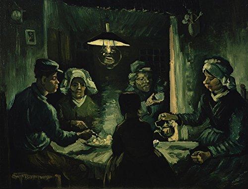 The Van Eaters Gogh Vincent Potato (Berkin Arts Vincent Van Gogh Giclee Canvas Print Paintings Poster Reproduction (The Potato Eaters 2))
