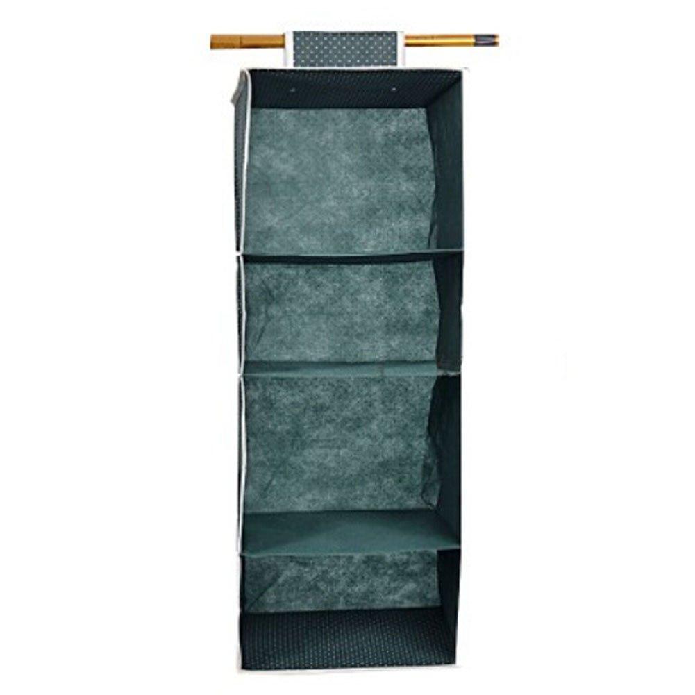 Large Clothing Receive Bag Multilayer Hanging Storage Pocket (Army blue)