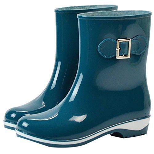 Chaussures 36 Popoye Green Wellington Vert Travail 2 Femme de 5 OrP8wSdqP