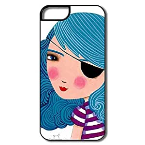 IPhone 5/5s Cases Bule Girl Design Hard Back Cover Proctector Desgined By RRG2G